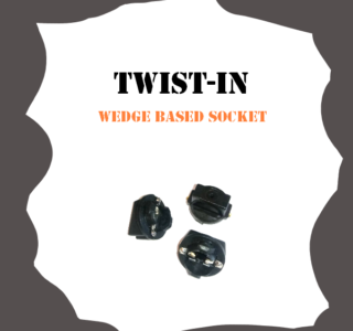 Twist-In Wedge Base socket for Pinball Machine