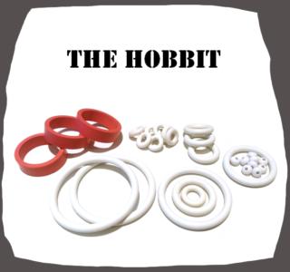 JP The Hobbit Rubber Set