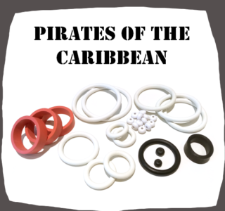 Pirates of the Caribbean Pinball Rubber Set