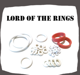 Stern Lord of the Rings Rubber set for Pinball Machine