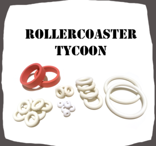 Stern Rollercoaster Tycoon Rubber kit for Pinball Machine