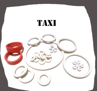 Williams Taxi Pinball Machine Rubber Set