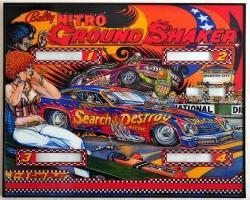 Bally Nitro Ground Shaker 1980 Pinball Machine