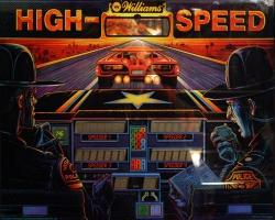 Williams High Speed 1986 Pinball Machine