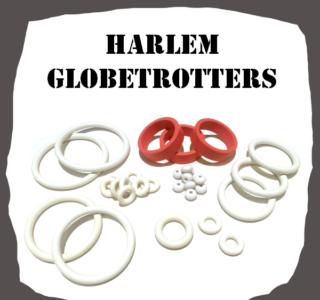 Bally Harlem Globetrotters 1979 Rubber Set