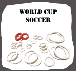 BallyMidway World Cup Soccer 1994 Rubber Kit