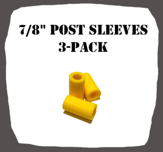 "7/8"" Type 3-Pack Post Sleeves for Pinball Machine"