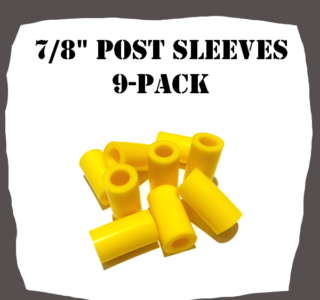 "7/8"" Inch 9-Pack Post Sleeves for Pinball Machine"