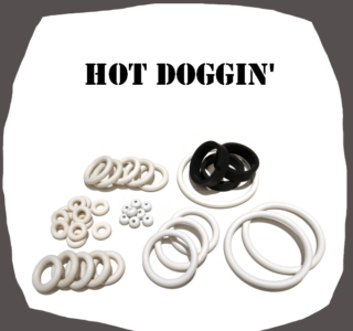 Bally Hot Doggin' Rubber kit of high quality
