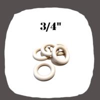 White Rubber Ring 3/4'' for Pinball Machine
