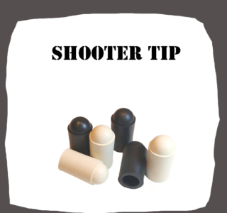 Shooter Tip of real rubber