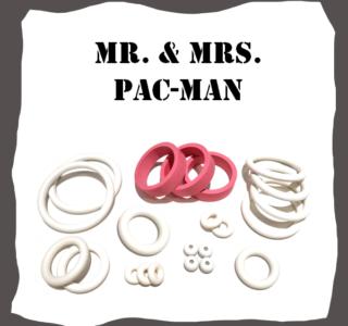 Bally Mr Mrs Pack-Man Rubber Kit
