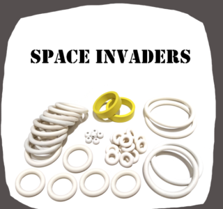 Bally Space Invaders rubber kit of high quality