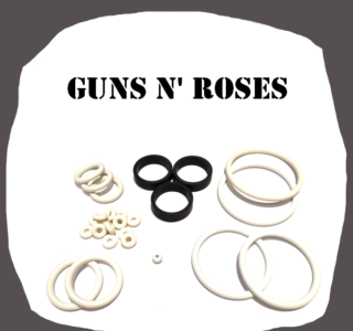 Data East Guns N Roses Rubber Kit of high quality