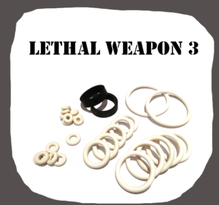 Data East Lethal Weapon 3 rubber kit for Pinball Machine