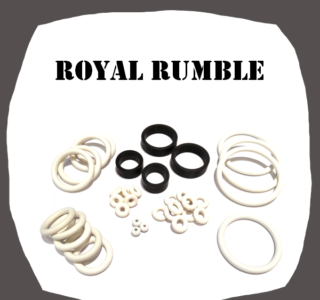 Data East Royal Rumble Rubber Kit for Pinball Machine