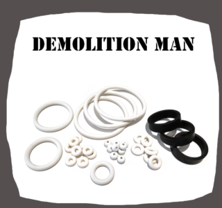 Williams Demolition Man Rubber kit for Pinball Machine
