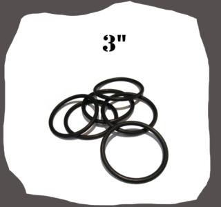 "Black Rubber Ring 3"" for Pinball Machine"