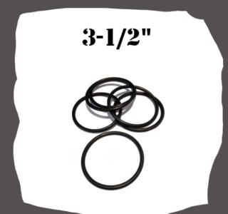 "Black Rubber Ring 3-1/2"" for Pinball"