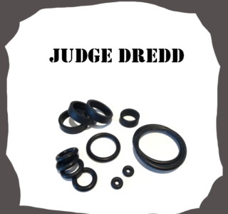 Bally/Midway Judge Dredd Rubber Kit for Pinball Machine