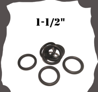 """1-1/2"""" inch Black Rubber Ring for Pinball Machine"""