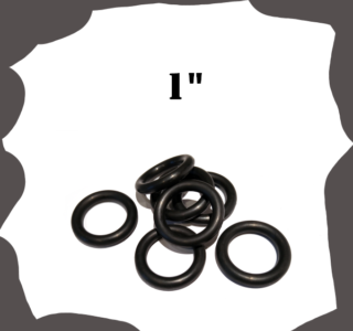 """1"""" inch Black Rubber Ring for Pinball Machine"""
