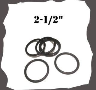 """2-1/2"""" inch Black Rubber Ring for Pinball Machine"""