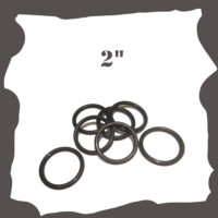 """2 inch Black Rubber Ring for Pinball Machine"