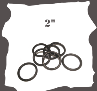 """""""2 inch Black Rubber Ring for Pinball Machine"""