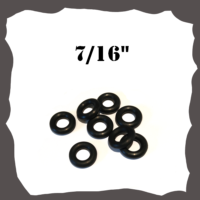 "7/16"" Black Rubber Ring for Pinball"