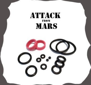 Bally/Midway Attack from Mars Rubber kit for Pinball Machine