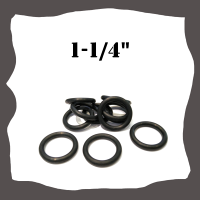 1-1'4 inch Black Rubber Ring for Pinball Machine
