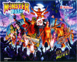 Williams Monster Bash Pinball Machine 1998
